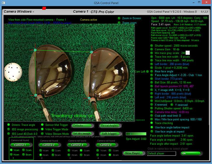 GSA Advanced Golf Simulators: Club track camera