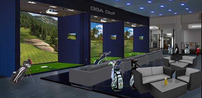 Gsa advanced golf simulators home for Indoor golf design