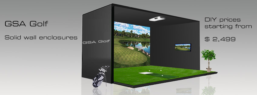 Diy golf simulator diy do it your self for Golf simulator room dimensions