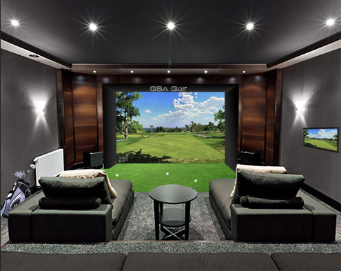 best home golf simulator. You Can Also Mount Both Ball Tracking Cameras On The Ceiling Instead Of One And Other Floor A Full 3D Stereoscopic System. Best Home Golf Simulator
