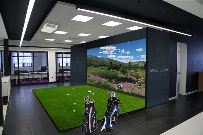 Golf simulator with best picture collections for Interior design simulator