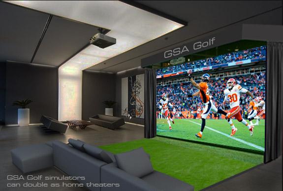Gsa advanced golf simulators fx series for Home design simulator