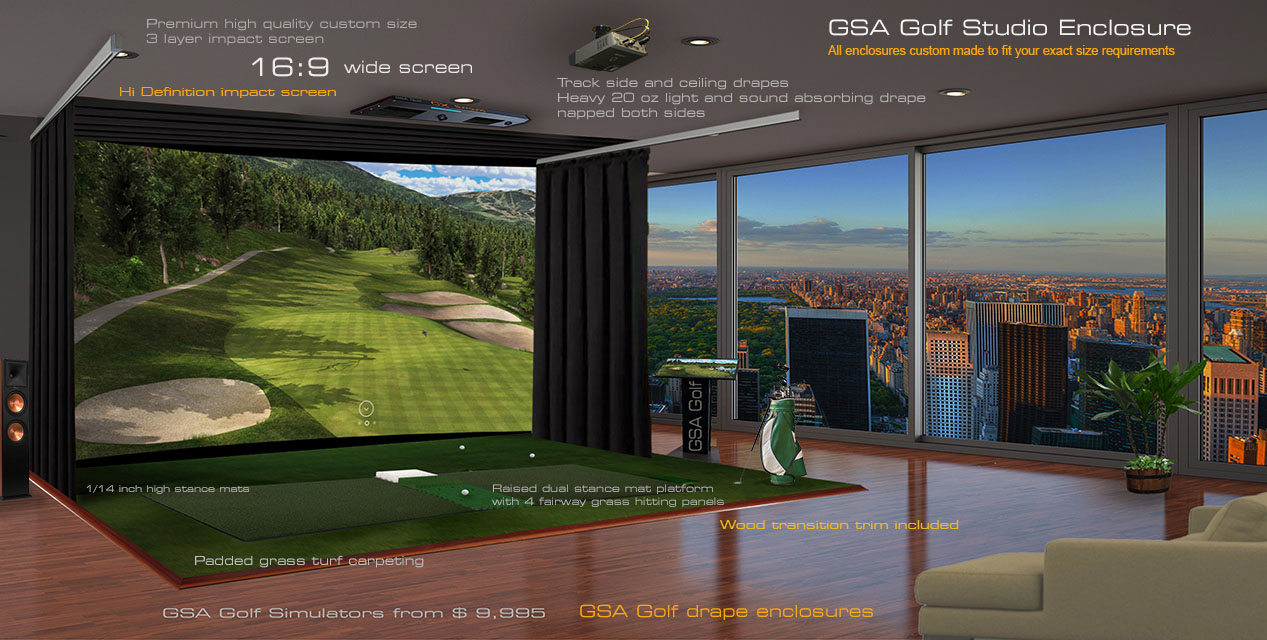 GSA Advanced Golf Simulators: Enclosures