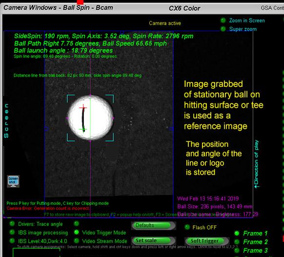 GSA Advanced Golf Simulators: Ball spin camera